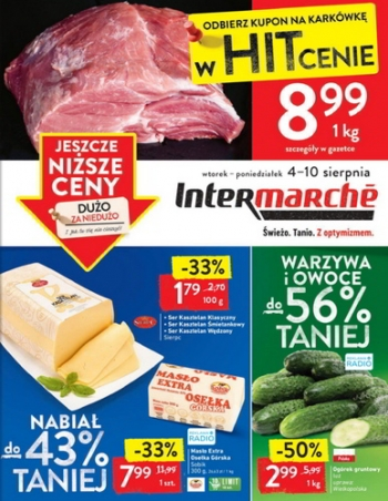 Intermarche od 4.08 do 10.08
