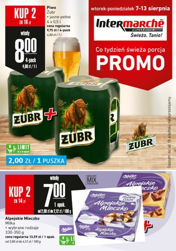 Intermarche od 7.08 do 13.08