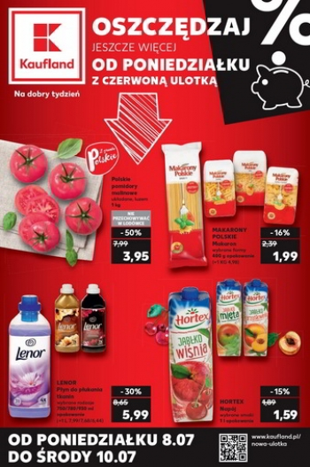 Kaufland od 8.07 do 10.07