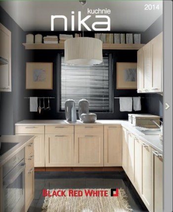 Black red white kuchnie nika 2014 gazetkapromocyjna24 for Black red white kuchnie