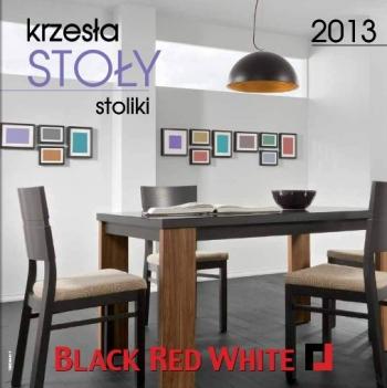 Black Red White Krzesła Stoły Stoliki 2013