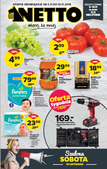 Netto od 5.11 do 10.11