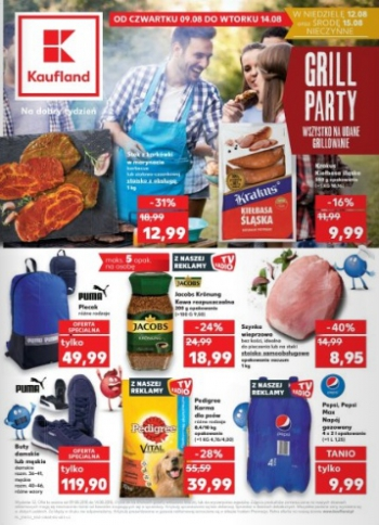 Kaufland od 9.08 do 14.08