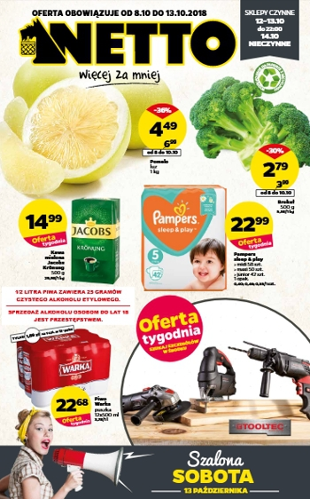 Netto od 8.10 do 13.10
