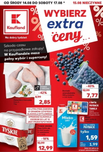 Kaufland od 14.08 do 17.08